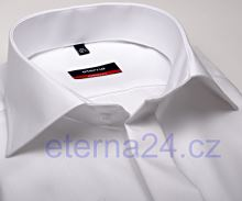 Eterna Modern Fit Chambray - biela gala košeľa s dvojitou manžetou a skrytou légou