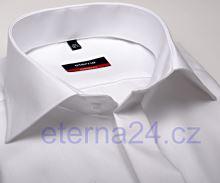 Eterna Modern Fit Uni Popeline - bílá gala s dvojitou manžetou a skrytým zapínáním - prodl. rukáv