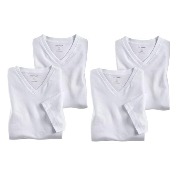 fecb6b86ba00 Biele tričko s krátkym rukávom Olymp lacno - V-výstrih