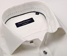 Casa Moda Modern Fit – košile champagne se zdobeným vnitřním límcem - prodloužený rukáv
