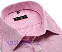 Eterna Modern Fit Natté – růžová košile s jemnou strukturou