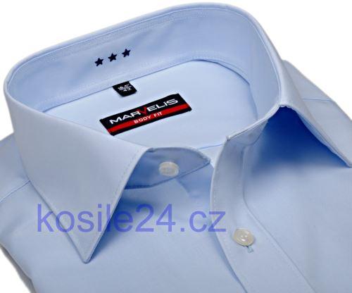 Marvelis Body Fit – světle modrá košile - prodloužený rukáv
