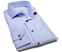 Eterna 1863 Modern Fit Two Ply - luxusní světle modrá košile s bílým vetkaným vzorem