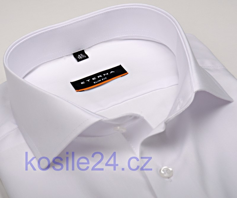 Bílá pánská košile Eterna Slim Fit - extra prodloužený rukáv bd1fec6f17