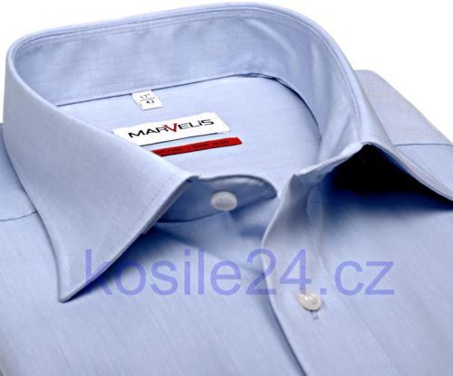 Marvelis Comfort Fit Chambray – světle modrá košile – prodloužený rukáv