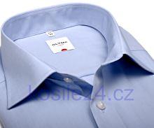Olymp Luxor Comfort Fit Chambray - světle modrá košile
