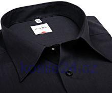 Olymp Luxor Comfort Fit Fil a Fil - černá košile