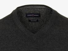 Bavlnený pulóver Casa Moda – antracitový - extra predĺžený rukáv