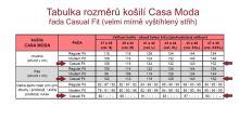 Casa Moda Casual Fit – žíhaná červená kockatá košeľa s vnútorným golierom, manžetou a légou