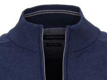 Bavlnený rozopínajúci pulóver Casa Moda – modrý