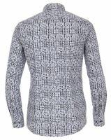 Venti Modern Fit – košile s tištěnými kolečky, vnitřním límcem a manžetou - extra prodloužený rukáv
