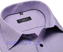 Eterna Comfort Fit – fialová košeľa s votkaným vzorom - predĺžený rukáv