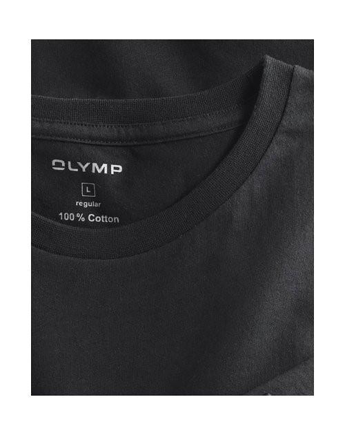 30a717b85dee1 Čierne bavlnené tričko Olymp s krátkym rukávom - kulatý výstrih (2 ks)