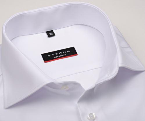 Eterna Modern Fit Twill Cover - luxusná biela nepriehľadná košeľa - extra predĺžený rukáv