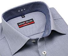 Marvelis Body Fit – košeľa s votkaným modrým vzorom a vnútorným golierom
