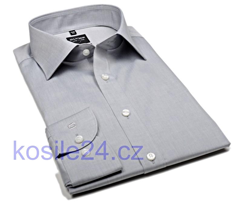 a93822371d60 Košile Level Five – světle šedá super slim košile