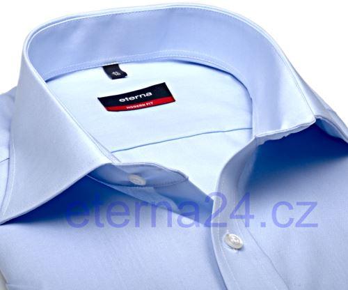 Eterna Modern Fit Uni Popeline – svetlomodrá košeľa s vreckom