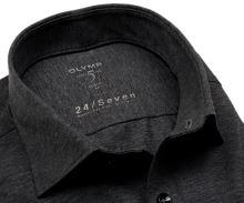 Olymp Level Five 24/Seven – antracitová elastická košeľa