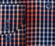 Marvelis Modern Fit – barevná károvaná košile s vnitřním límcem