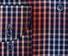 Marvelis Modern Fit - farebná károvaná košeľa s vnútorným golierom