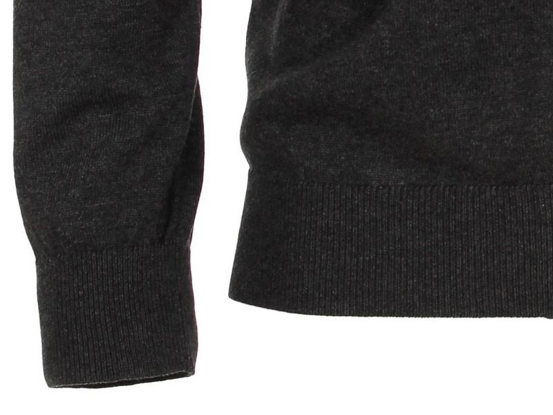 cefc20d7d31b Rozopínací polóver na zips z 100% PIMA bavlny Casa Moda – antracitový
