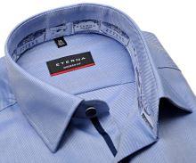 Eterna Modern Fit Twill – modro-biela košeľa s vnútorným golierom, manžetou a légou