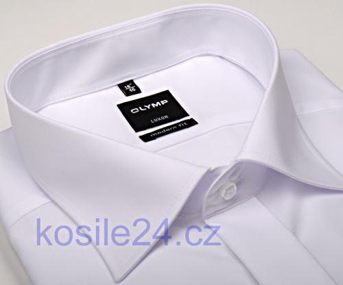 Olymp Luxor Modern Fit - biela gala košeľa s dvojitou manžetou a skrytou légou