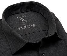 Olymp Super Slim 24/Seven – antracitová elastická košeľa