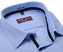 Marvelis Body Fit Twill – luxusní světle modrá košile s tmavomodrým vnitřním límcem a légou