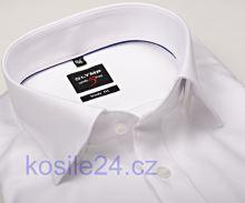 Olymp Level Five Diamant Twill – luxusní bílá košile s jemnou strukturou