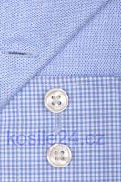 Olymp Luxor Comfort Fit – košeľa so svetlomodrým minikárom s vnútorným golierom a manžetou
