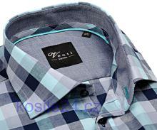 Venti Slim Fit – košeľa s výrazným károm s vnútorným golierom, manžetou a légou - extra predĺžený rukáv