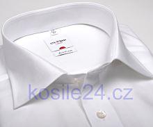 Olymp Luxor Comfort Fit AirCon - vzdušná bílá košile - krátký rukáv