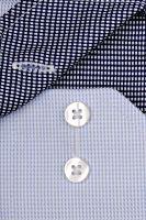 Eterna Modern Fit Twill – světle modrá košile s modro-bílým vnitřním límcem - extra prodloužený rukáv