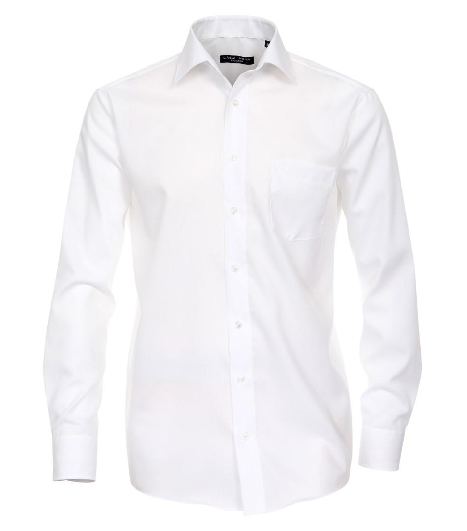 beca8e0bc56b Biela pánska košeľa Casa Moda - dlhý rukáv