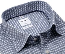 Olymp Comfort Fit Luxor – košeľa s modrým tľačeným vzorom