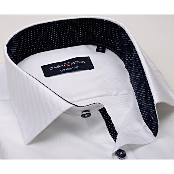 b362978f86de Luxusná biela košeľa Casa Moda so štruktúrou - extra predĺžený rukáv