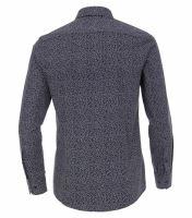 Venti Modern Fit – tmavomodrá košeľa s bielym vzorom a inverzným vnútorným golierom - extra predĺžený rukáv