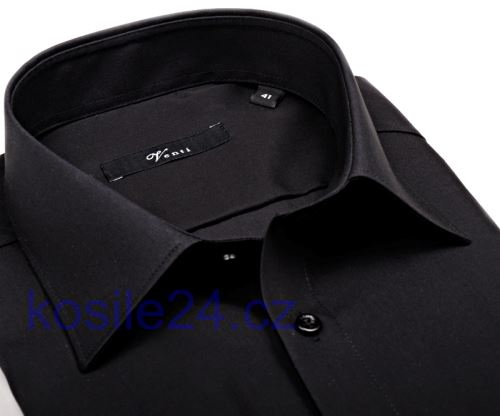Venti Modern Fit – čierna košeľa - predĺžený rukáv