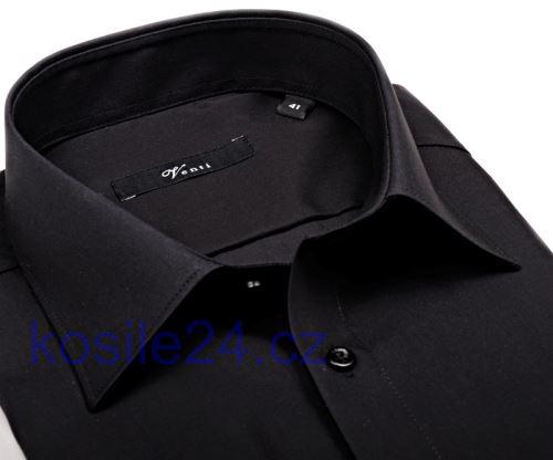 Venti Slim Fit – černá košile - prodloužený rukáv