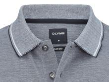 Polo tričko Olymp - modro-čierne tričko s golierom a bielym rastrovaním