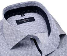 Casa Moda Modern Fit – košeľa s modro-bielym vzorom, tmavomodrým vnútorným golierom a manžetou