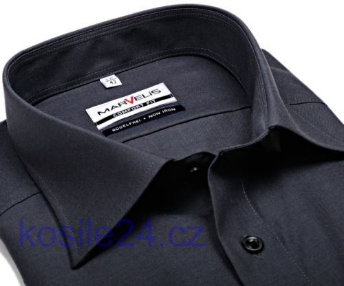 Marvelis Comfort Fit Chambray – antracitová košile