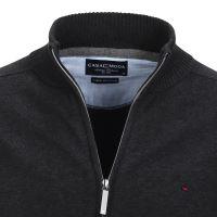 Bavlnený rozopínajúci pulóver Casa Moda – antracitový