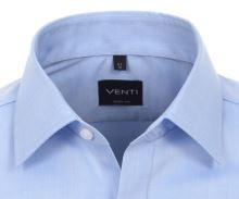 Venti Body Fit – svetlomodrá košeľa - predĺžený rukáv