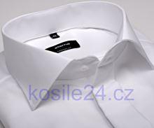 Eterna Comfort Fit Uni Popeline - biela gala s dvojitou manžetou a skrytou légou