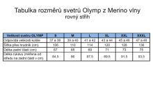 Svetr Olymp z Merino vlny - V výstřih - béžový