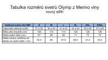Svetr Olymp z Merino vlny - V výstřih - šedý