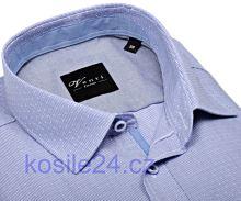 Venti Slim Fit – košeľa s modrým prúžkom a vnútorným golierom, manžetou a légou - extra predĺžený rukáv