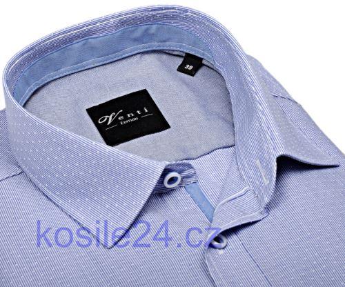 Venti Slim Fit – košile s modrým proužkem a vnitřním límcem, manžetou a légou - extra prodloužený rukáv